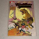 CADILLACS AND DINOSAURS COMIC TOPPS #1 FOIL 1994