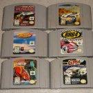 6 RACING GAMES DRIVING N64 NINTENDO RR 64 TOP GEAR GT64