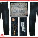 LVC LEVI'S 1975 VINTAGE BIG E 519 TAPERED NAVY BLUE CORDUROY PANTS W28 L34 (Actual size 27 32)