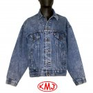 LEVI'S VINTAGE TRUCKER JACKET IN LIGHT ACID WASH DENIM Button #777 size Large - MADE IN USA
