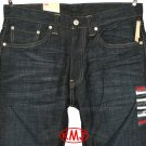 "LEVI'S 505 STRAIGHT FIT ""RAW CHIPPED"" DARK BLUE WATER-LESS DENIM JEANS in size W29 W32"