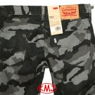 Brand New LEVI'S 511 SLIM FIT CAMO CAMOUFLAGE CORDS GREY CORDUROY PANTS in size W28 L32