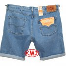 Brand New LEVI'S CLASSIC 501 BUTTON-FLY PADRE CUTOFF MEDIUM STONEWASH BLUE DENIM SHORTS in size W44