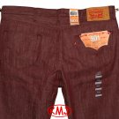 $68.00 LEVI'S 501 SHRINK-TO-FIT TIBETAN RED WHITE OAK CONE DENIM JEANS W42 L30