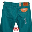 $69.50 LEVI'S 501 CLASSIC SHRINK-TO-FIT PORT BLUE BUTTON-FLY DENIM JEANS in size W34 L32