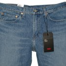 $89.50 LEVI'S PREMIUM BIG E 511 SLIM FIT WARP STRETCH DESTRUCTED BLUE DENIM JEANS - W34 L32