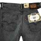 $79.50 LEVI'S 501 SKATEBOARDING COLLECTION BUTTON-FLY GRAY STRETCH DENIM JEANS in size W31 L32
