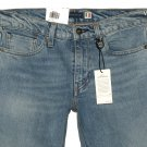 $148.00 LEVI'S MADE & CRAFTED 511 SLIM BIG E ITALIAN SELVEDGE DENIM JEANS IN LIGHT BLUE WASH W28 L32