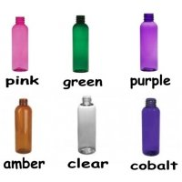(12 ct) 2 oz. Multi Color Semi-Translucent Round Bottle w/ Black Fine Mist Sprayer