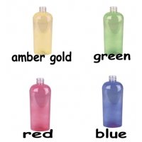 (12 ct) 8 oz. Multi Color Oval PET Bottles w/ White Sprayer or Pump