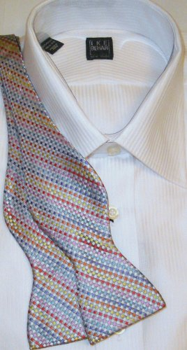 Bow Tie Gray Tweed Freestyle Silk - Free Worldwide Ship!