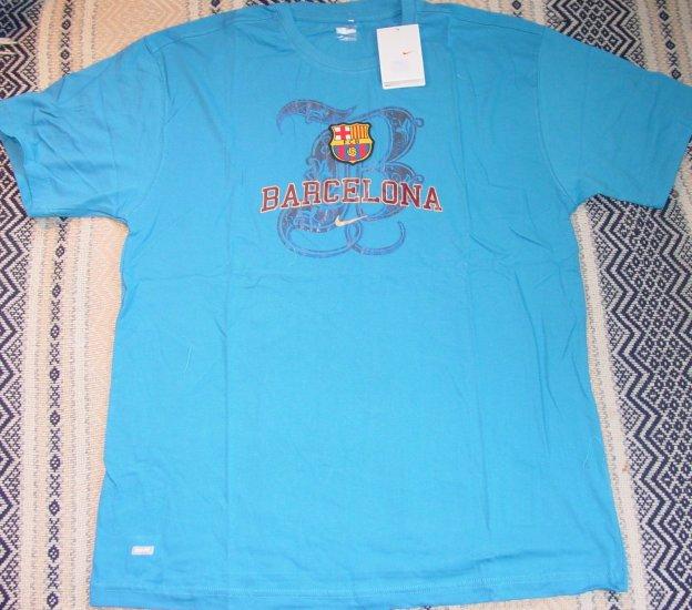FC BARCELONA SOCCER T-SHIRT SIZE XXL � (EC) WE SHIP USPS