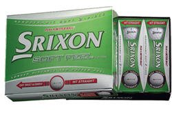 3-PACK NEW SRIXON SOFTFEEL SOFT FEEL GOLF BALLS DOZENS