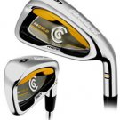 NEW CLEVELAND GOLF 2007 CG GOLD 3-PW IRONS STEEL REG