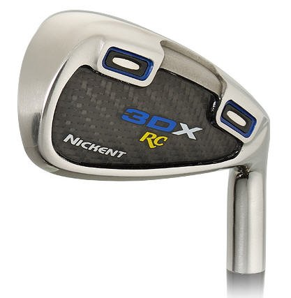 NICKENT GOLF- 3DX RC HYBRID #3/#4, 5-PW IRONS GR/ST STF