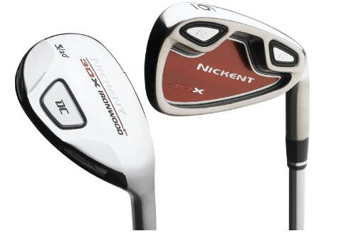 NICKENT GOLF- 3DX RED HYBRID IRONS #3/#4,5-PW GRAPH STF