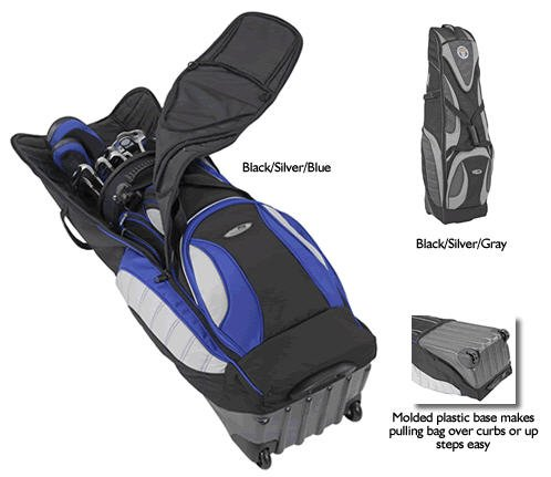 BAG BOY GOLF T-1000 GOLF TRAVEL BAG - BLACK/SILVER/BLUE