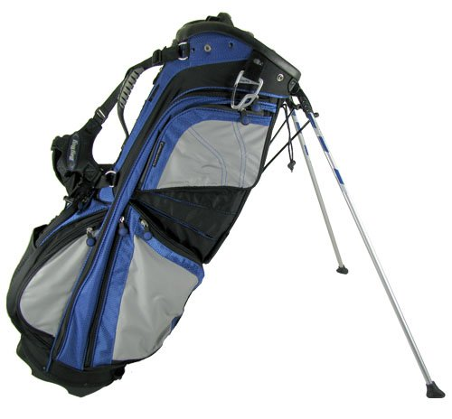BAG BOY GOLF- NEW CLIP-LOK STAND BAG - BLACK/ROYAL/GRAY