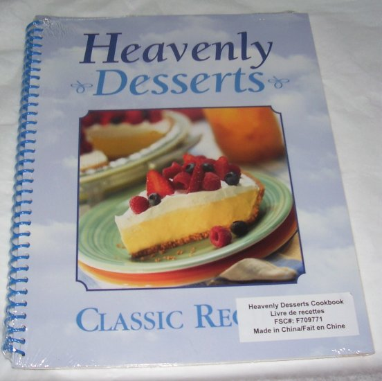 Heavenly Desserts: Classic Recipes (Spiral-bound Softcover), NEW