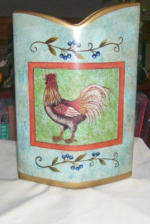 """ROOSTER VASE, NEW, 10""""H ..BEAUTIFUL COLORS & DESIGN"""