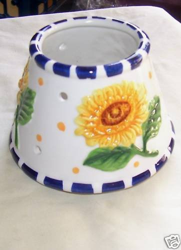 SUNFLOWER, CANDLE JAR SHADE, NEW, CANDLES