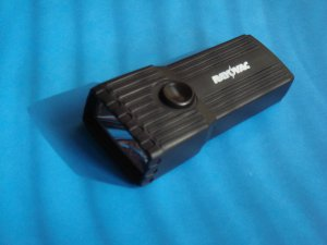 Small Black Battery Operated Flashlight compact lightweight