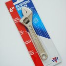 6 inch Adjustable Wrench by VPT new hardened and tempered drop forged steel
