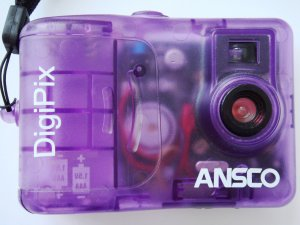 ANSCO DigiPix purple see through Digital Camera may not be in working order
