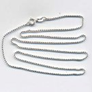 "Sterling Silver 18"" Bead Ball Chain with Spring Ring Clasp"