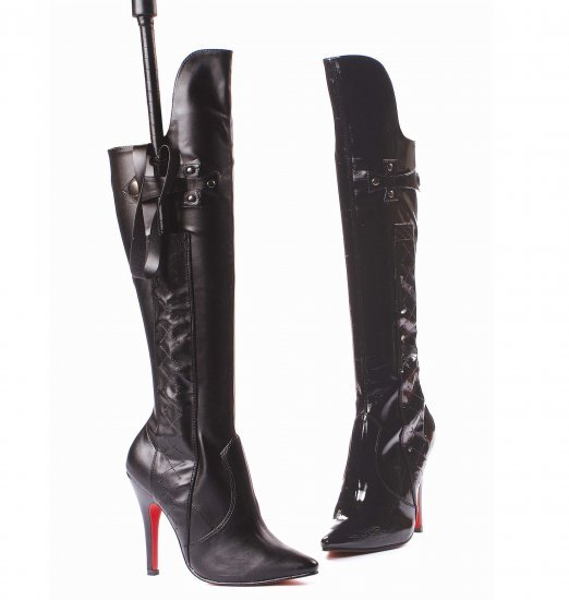 "SIZE 10- Sadie 5"" Heel Knee High Boot with Whip & Holster"