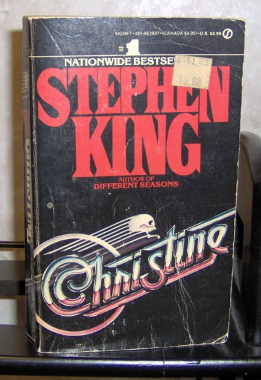 Christine by Stephen King First Printing Paperback Novel
