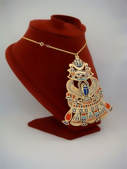 Large Egyptian Scarab , Solar And Eye Of Horus Pectoral