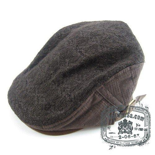 Unisex Man Woman Newsboy Speical Style Brown Col Beret Hat NWT Speical