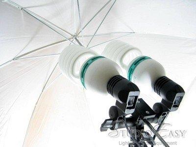 Photo Studio Lighting Umbrella, Tripod, Double adaptor package