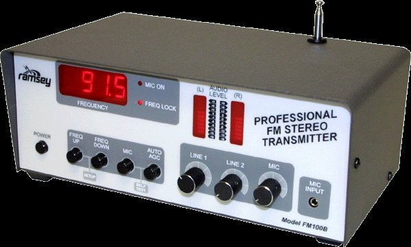 FM100BEX SuperPro FM Stereo Radio Station for Export, Wired and Tested - Newest Version