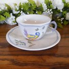 Longchamp Perouges Cups and Saucers  Vintage