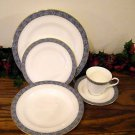 Mikasa Chaucer Place Setting Bone China  Blue White Gold