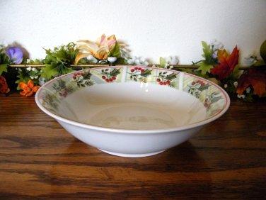 Gibson Tartan Plaid Vegetable Bowl Christmas Holiday