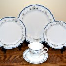 Nikko Fascination 5 Piece Place Setting  Blue Floral