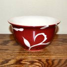 Sandra Lee Damask Flower Dessert Bowl Red White