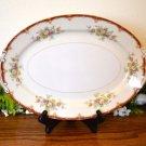 "Ransom Japan Oval Platter 11 3/4"" Rust Floral"
