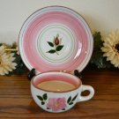 Stangl Wild Rose Cup and Saucer