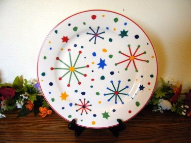 Domestications Dinner Plates Snow Whimsy Christmas