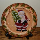 Tabletops Unlimited Snowstorm Christmas Santa Salad Plate