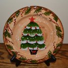 Tabletops Unlimited Snowstorm Christmas Tree Salad Plate