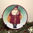 Block Father Christmas Santa Salad Plate