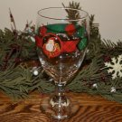 Block Father Christmas Water Goblet Santa