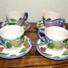 Franciscan Orchard Glade Cups and Saucers England