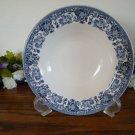 Martha Stewart Blue Floral Transferware Soup Bowls