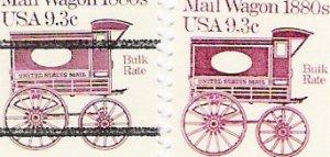US Scott 1903 and 1903a PreCanceled - Single - Mail Wagon 1880s - 9.3 cent - Mint Never Hinged
